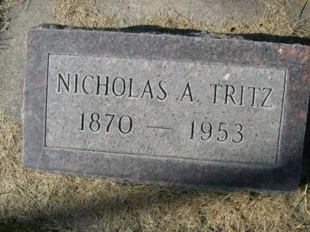 TRITZ, NICHOLAS A. - Dawes County, Nebraska | NICHOLAS A. TRITZ - Nebraska Gravestone Photos