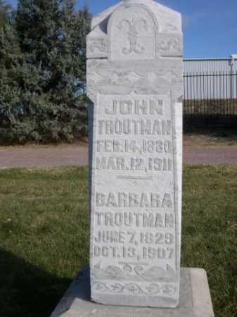 TROUTMAN, JOHN - Dawes County, Nebraska | JOHN TROUTMAN - Nebraska Gravestone Photos
