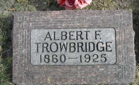 TROWBRIDGE, ALBERT F. - Dawes County, Nebraska | ALBERT F. TROWBRIDGE - Nebraska Gravestone Photos