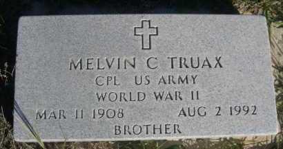 TRUAX, MELVIN C. - Dawes County, Nebraska | MELVIN C. TRUAX - Nebraska Gravestone Photos