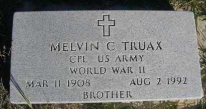 TRUAX, MELVIN C. - Dawes County, Nebraska   MELVIN C. TRUAX - Nebraska Gravestone Photos