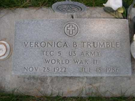 TRUMBLE, VERONICA B. - Dawes County, Nebraska | VERONICA B. TRUMBLE - Nebraska Gravestone Photos
