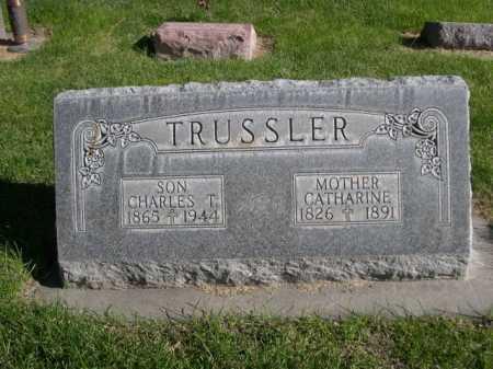 TRUSSLER, CHARLES T. - Dawes County, Nebraska | CHARLES T. TRUSSLER - Nebraska Gravestone Photos
