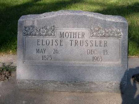 TRUSSLER, ELOISE - Dawes County, Nebraska   ELOISE TRUSSLER - Nebraska Gravestone Photos