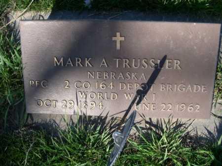 TRUSSLER, MARK A. - Dawes County, Nebraska | MARK A. TRUSSLER - Nebraska Gravestone Photos