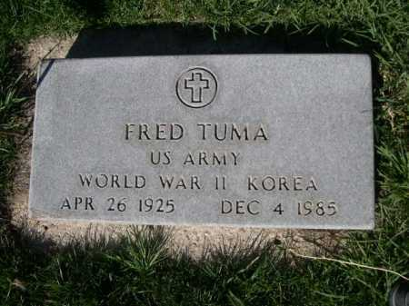 TUMA, FRED - Dawes County, Nebraska | FRED TUMA - Nebraska Gravestone Photos