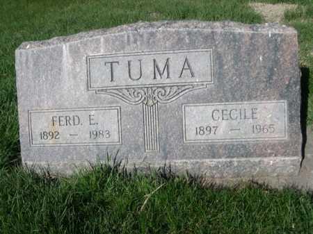 TUMA, FRED E. - Dawes County, Nebraska   FRED E. TUMA - Nebraska Gravestone Photos