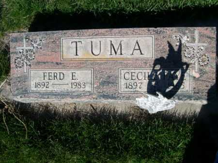TUMA, FRED E. - Dawes County, Nebraska | FRED E. TUMA - Nebraska Gravestone Photos