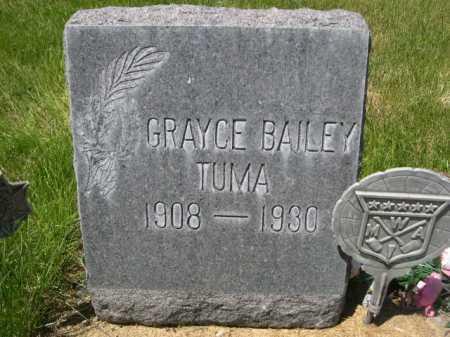 BAILEY TUMA, GRAYCE - Dawes County, Nebraska   GRAYCE BAILEY TUMA - Nebraska Gravestone Photos
