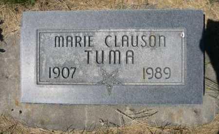 CLAUSON TUMA, MARIE - Dawes County, Nebraska | MARIE CLAUSON TUMA - Nebraska Gravestone Photos