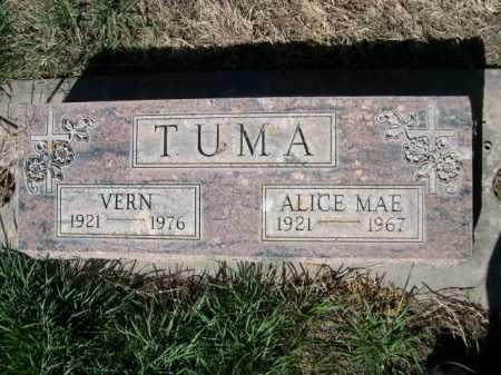TUMA, ALICE MAE - Dawes County, Nebraska | ALICE MAE TUMA - Nebraska Gravestone Photos