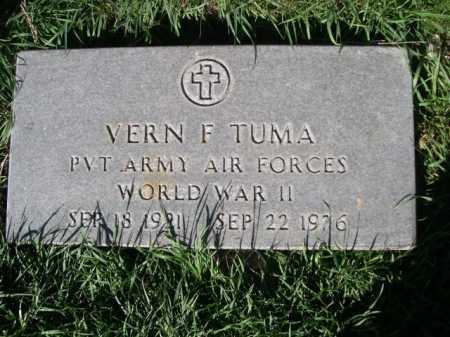 TUMA, VERN F. - Dawes County, Nebraska | VERN F. TUMA - Nebraska Gravestone Photos