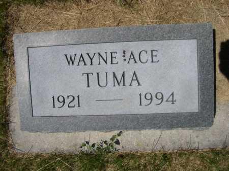 TUMA, WAYNE ACE - Dawes County, Nebraska   WAYNE ACE TUMA - Nebraska Gravestone Photos
