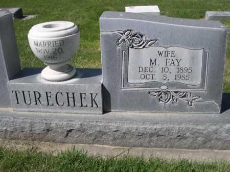 TURECHEK, M. FAY - Dawes County, Nebraska | M. FAY TURECHEK - Nebraska Gravestone Photos
