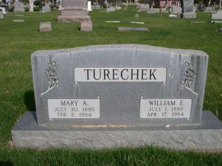 TURECHEK, WILLIAM E. - Dawes County, Nebraska | WILLIAM E. TURECHEK - Nebraska Gravestone Photos