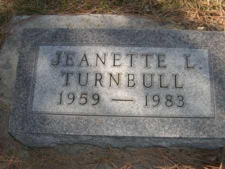 TURNBULL, JEANETTE L. - Dawes County, Nebraska   JEANETTE L. TURNBULL - Nebraska Gravestone Photos