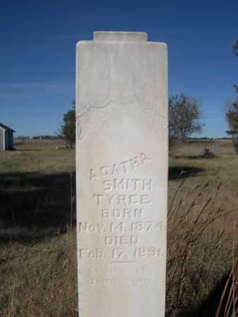SMITH TYREE, AGATHA SMITH - Dawes County, Nebraska | AGATHA SMITH SMITH TYREE - Nebraska Gravestone Photos