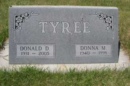TYREE, DONNA M. - Dawes County, Nebraska | DONNA M. TYREE - Nebraska Gravestone Photos