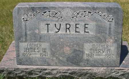 TYREE, JAMES W. - Dawes County, Nebraska   JAMES W. TYREE - Nebraska Gravestone Photos