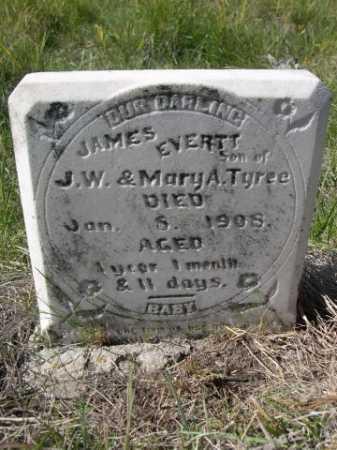 TYREE, JAMES EVERTT - Dawes County, Nebraska   JAMES EVERTT TYREE - Nebraska Gravestone Photos