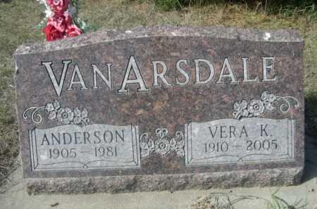 VAN ARSDALE, VERA K. - Dawes County, Nebraska | VERA K. VAN ARSDALE - Nebraska Gravestone Photos