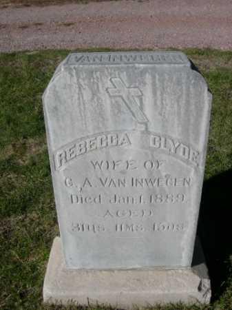 VAN INWEGEN, REBECCA CLYDE - Dawes County, Nebraska | REBECCA CLYDE VAN INWEGEN - Nebraska Gravestone Photos