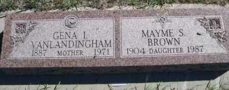 VAN LANDINGHAM BROWN, MAYME S. - Dawes County, Nebraska | MAYME S. VAN LANDINGHAM BROWN - Nebraska Gravestone Photos