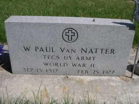 VAN NATTER, W. PAUL - Dawes County, Nebraska | W. PAUL VAN NATTER - Nebraska Gravestone Photos
