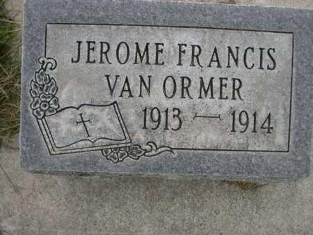 VAN ORMER, JEROME FRANCIS - Dawes County, Nebraska   JEROME FRANCIS VAN ORMER - Nebraska Gravestone Photos