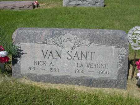 VAN SANT, LA VERGNE - Dawes County, Nebraska   LA VERGNE VAN SANT - Nebraska Gravestone Photos