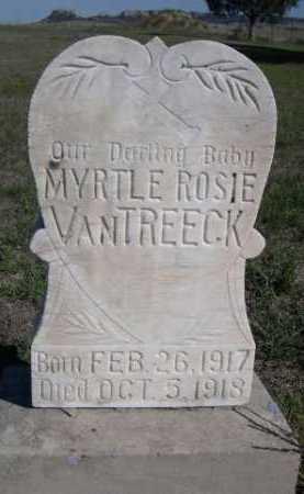 VAN TREECK, MYRTLE ROSIE - Dawes County, Nebraska   MYRTLE ROSIE VAN TREECK - Nebraska Gravestone Photos