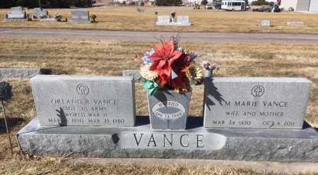 VANCE, M. MARIE - Dawes County, Nebraska   M. MARIE VANCE - Nebraska Gravestone Photos