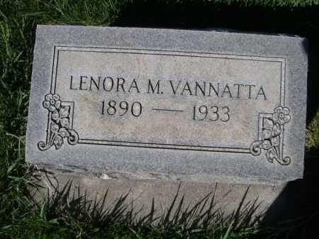 VANNATTA, LENORA M. - Dawes County, Nebraska | LENORA M. VANNATTA - Nebraska Gravestone Photos