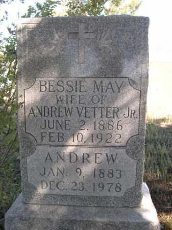 VETTER, BESSIE MAY - Dawes County, Nebraska | BESSIE MAY VETTER - Nebraska Gravestone Photos