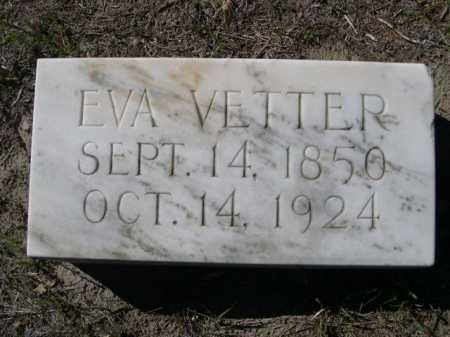 VETTER, EVA - Dawes County, Nebraska | EVA VETTER - Nebraska Gravestone Photos
