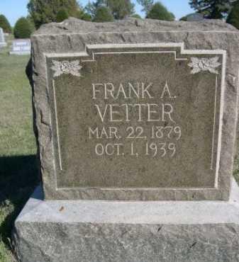 VETTER, FRANK A. - Dawes County, Nebraska | FRANK A. VETTER - Nebraska Gravestone Photos