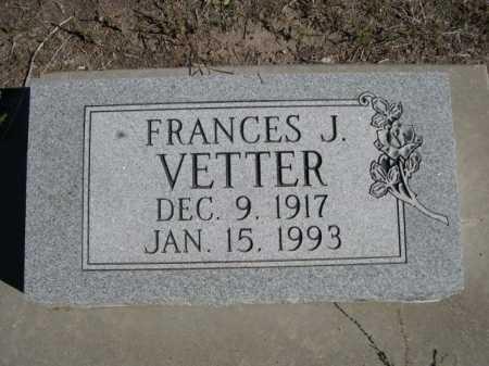 VETTER, FRANCES J. - Dawes County, Nebraska | FRANCES J. VETTER - Nebraska Gravestone Photos