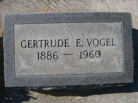 VOGEL, GERTRUDE E. - Dawes County, Nebraska | GERTRUDE E. VOGEL - Nebraska Gravestone Photos
