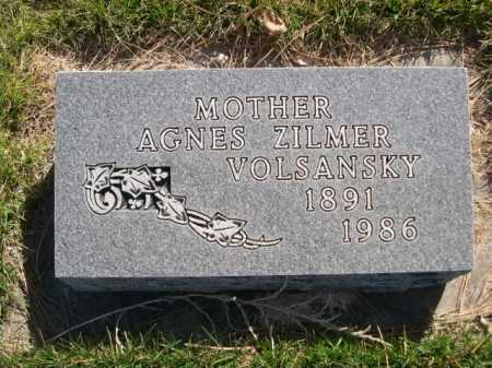 ZILMER VOLSANSKY, AGNES ZILMER - Dawes County, Nebraska   AGNES ZILMER ZILMER VOLSANSKY - Nebraska Gravestone Photos