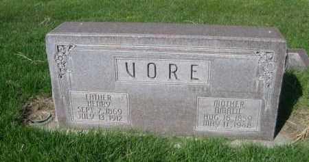 VORE, HENRY - Dawes County, Nebraska | HENRY VORE - Nebraska Gravestone Photos