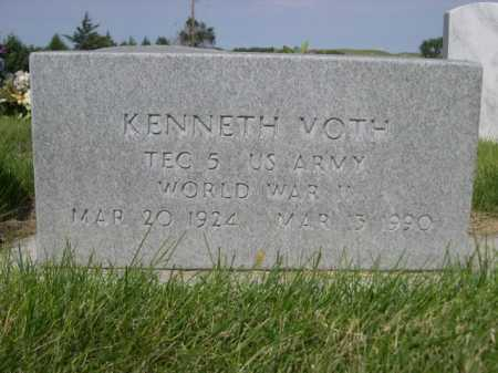 VOTH, KENNETH - Dawes County, Nebraska | KENNETH VOTH - Nebraska Gravestone Photos