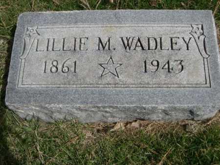 WADLEY, LILLIE M - Dawes County, Nebraska | LILLIE M WADLEY - Nebraska Gravestone Photos