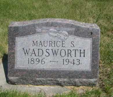 WADSWORTH, MAURICE S. - Dawes County, Nebraska   MAURICE S. WADSWORTH - Nebraska Gravestone Photos