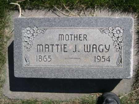 WAGY, MATTIE J. - Dawes County, Nebraska | MATTIE J. WAGY - Nebraska Gravestone Photos