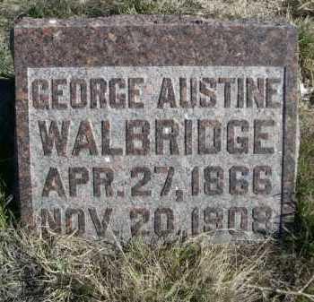 WALBRIDGE, GEORGE AUSTINE - Dawes County, Nebraska   GEORGE AUSTINE WALBRIDGE - Nebraska Gravestone Photos