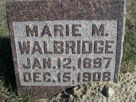 WALBRIDGE, MARIE M. - Dawes County, Nebraska | MARIE M. WALBRIDGE - Nebraska Gravestone Photos