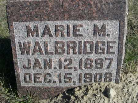 WALBRIDGE, MARIE M. - Dawes County, Nebraska | MARIE M. WALBRIDGE - Nebraska Gravestone Photos