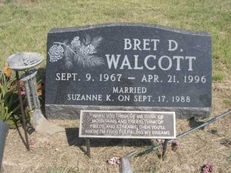 WALCOTT, BRET D. - Dawes County, Nebraska | BRET D. WALCOTT - Nebraska Gravestone Photos