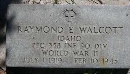 WALCOTT, RAYMOND E. - Dawes County, Nebraska | RAYMOND E. WALCOTT - Nebraska Gravestone Photos