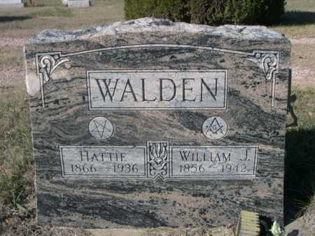 WALDEN, WILLIAM J. - Dawes County, Nebraska | WILLIAM J. WALDEN - Nebraska Gravestone Photos